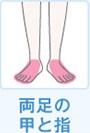 両足の甲指