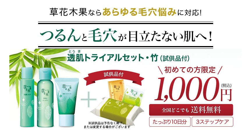 草花木果 竹 トライアルセット 値段
