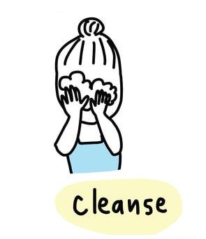 毛穴,洗顔料